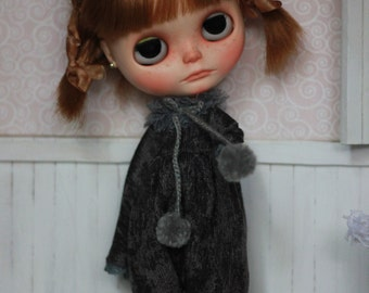 Reserved for Lynne - Winter Couture - Overalls - For Blythe Doll