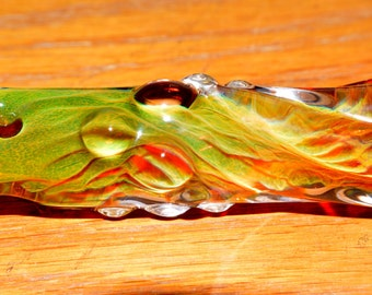 Glass Pipe Chillum Heady Exquisite Ice Pinch Color Changing Honeycomb Roots - Handblown