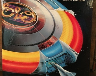 Electric Light Orchestra • Out of the Blue Vinyl LP 1977 Jet Records Includes All Inserts Poster Spaceship ELO Prog Rock Classic