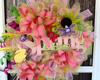 Spring door wreath, wreaths, easter wreath