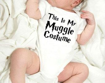 Harry Potter Inspired Baby Onesie / My Muggle Costume Onesie / Harry Potter Baby Shower Gift  / Harry Potter Onesie / Harry Potter Nursery