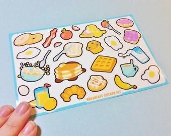 Breakfast Foods Sticker Set