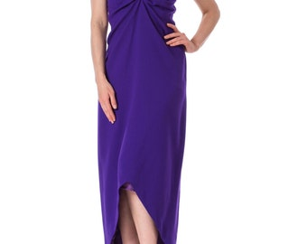 Yves Saint Laurent strapless purple dress
