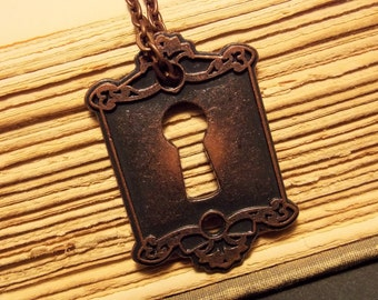 Copper Keyhole Necklace