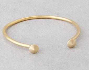 Cuff Bracelet, Open Bangle Bracelet, Stackable Bracelet, Open Cuff Bracelet, Stacking Bracelet, Layering Bracelet, Gold Plated Bracelet