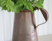 RESERVED for Tiffany Antique Copper Pitcher