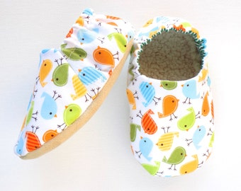 BIrds Baby Girl Shoes, Soft Sole Shoes, Baby Booties, Birds Baby Girl Soft Shoes, Slip On Baby Shoes, Baby Girl Gift