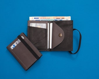 Leather Wallet, Wallet, portemonnaie, Personalized gifts