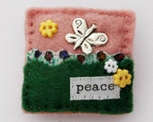 Butterfly brooch - butterfly gifts - peace - mothers day gift - hand sewn brooch - felt brooch