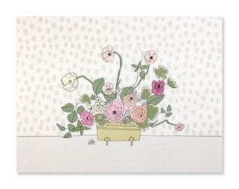 Light Neon Bouquet Art Print