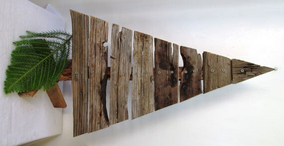 Reclaimed wood christmas tree rustic holiday home decor made
