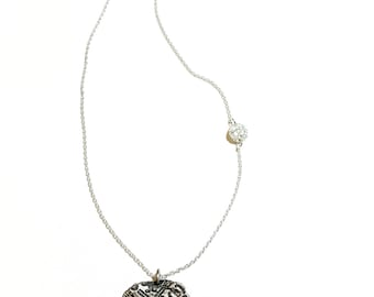 Vintage Style Pendant in Sterling silver