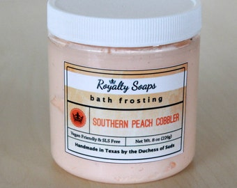 Southern Peach Cobbler Bath Frosting   8 oz    Whipped Soap   Cream Soap   Royalty Soaps