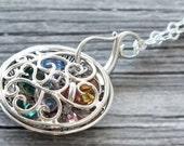 Mother Locket,Grandmother Locket,Mom Necklace,Birthstone Necklace,Birthstone locket,Grandmother Necklace,Mother Necklace,Mom Locket, Names