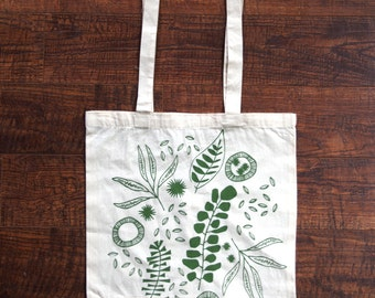 Green Seeds Tote Bag - Limited Run - Olive Screen Print on Canvas Tote