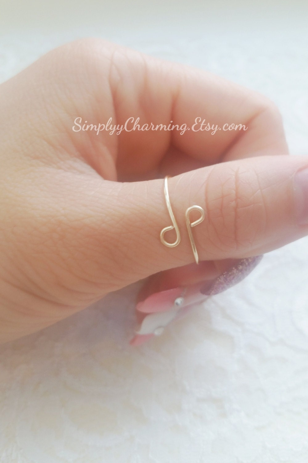 swirl thumb ring unique knuckle rings midi adjustable ring
