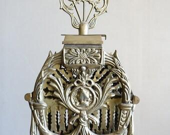 Vintage Ornate Brass Fireplace Screen