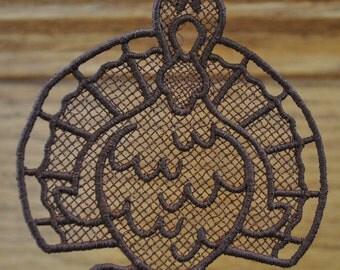 Lace Turkey Ornament