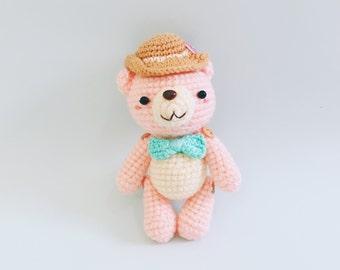 Doll / Crochet Amigurumi the Journey Bear (Pink Color)