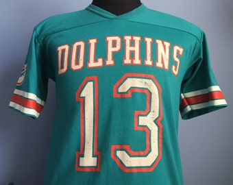80s Vintage Dan Marino #13 Miami Dolphins Jersey T-Shirt - LARGE