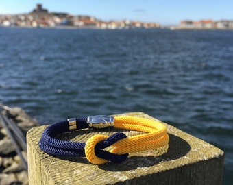 Nautical Square Knot Bracelet - Ahoy bracelet in Stainless steel - Waterproof