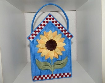 Handmade Plastic Canvas Sunflower Gift Bag