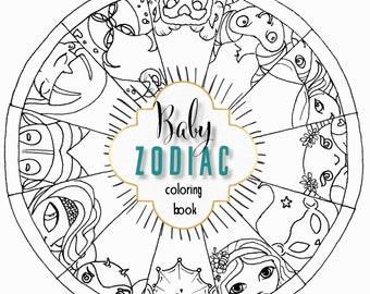 Baby Zodiac Coloring Book