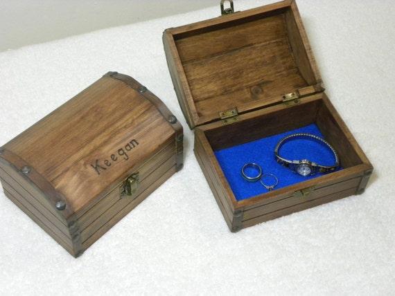 wooden treasure chest keepsake box jewelry