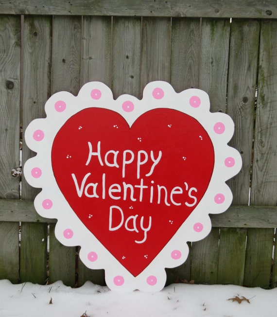 Happy valentines day yard signs decorations stakes for Decorate for valentines day