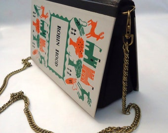Robin Hood Book Purse Bag Clutch - Upcycled book