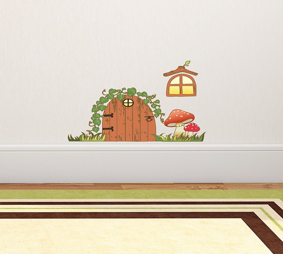 Items similar to small tooth fairy door with accents for Fairy door for wall
