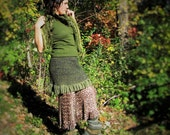 OliveFantasy~Upcycled Skirt...Handmade Sweater Skirt, feminine, fairy, earthy=LOVE