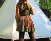 InTheFlow~short SKIRT~handmade, upcycled... Earthy tones