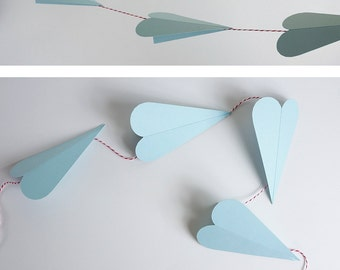 Paper Airplane Garland Kit