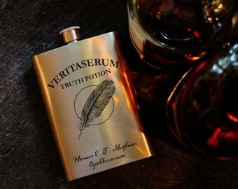 Veritaserum - Truth Potion - Magic spells - Harry Potter Inspired - 8oz Hip Flask