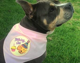 Dog Birthday Bandana - Birthday Girl Dog or Birthday Boy Dog Outfit - Dog Gift