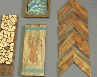 Modern rustic wood art home decor tree branch wall by shiningcity - Sophisticated home decorations for wooden house within artwork designs ...