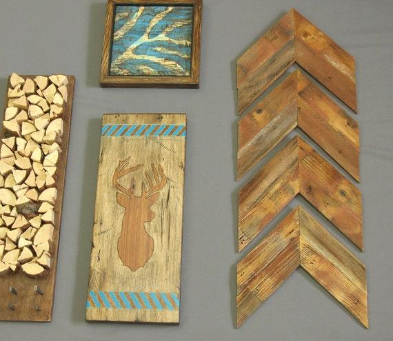 Wooden arrows arrowheads modern rustic wall decor - Modern rustic wall decor ...