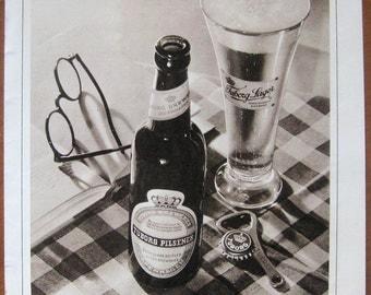 Tuborg, beer, 1935, vintage, ad, original, drink, lager, English, free shipping, paper, ephemera