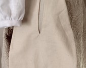 18th Century Basic Pocket of Unbleached Cotton - Ready to Ship - Hand Finished - Georgian Colonial Revolutionary War Reenactor Item