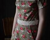 SALE // 1919 Kimono Dress // Roses // Womens Dress / Womens Clothing / Lace Dress / Vintage Inspired / Calico