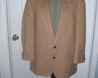 Rogers Scott Men's Suit Jacket -Tan Camel hair - Made in USA - Size 46