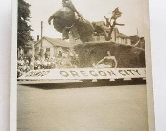 oregon city parade antique photo