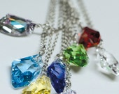 Final Fantasy Raw Crystal Inspired Necklace - Set of 8 - Swarovski Crystal