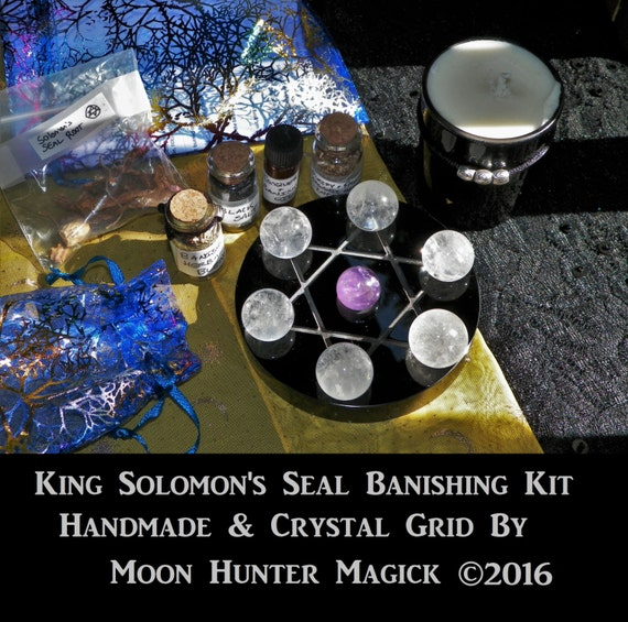 King Solomon's Seal Deluxe Banishing Ritual Kit Pagan Wicca Thelema Kabbalah Ceremonial Magick