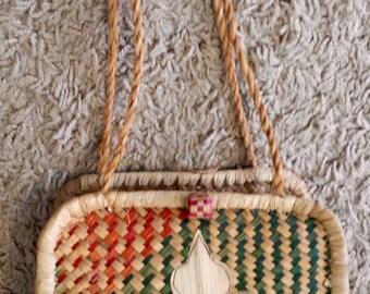 Genuine Vintage Woven Wicker Handbag