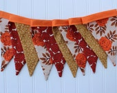 Boho Autumn Harvest Fabric Banner. Fall Bunting. Thanksgiving Pennant Garland. Fall Decor. Juliana Horner. Photography Prop. Give Thanks.