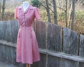 70's Dot Day Dress Ruffle