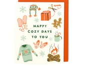 Happy Cozy Days Holiday Card - Singles & Box Set