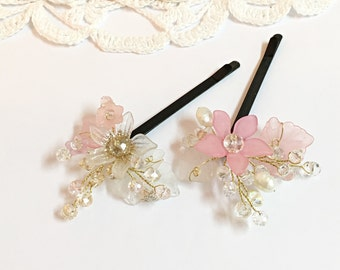 Flower girl hair accessories x2, flower girl headpiece, bobby pins flower girl gift, flower girl hair clips, flower girl hair pin, bobby pin
